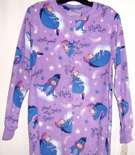 Women's Disney EEYORE One Piece Fleece Footed Footie Pajamas 2290 Sm-XL