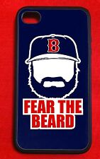 """Jonny Gomes Boston Red Sox """"Fear The Beard"""" IPhone 4/4S 5 Case Cover"""