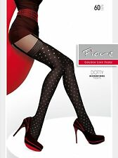 Fiore Mock Suspender Dotty TIGHTS from Europe Fiore Hosiery Leggings Pantyhose