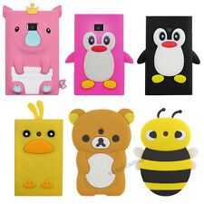 Cartoon Animal Soft Silione Back Case Cover Skin for LG E400 Optimus L3