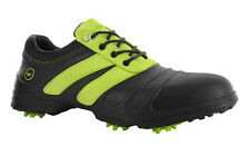 HI-Tec Mens Waterproof Cleated Black & Lime Golf Shoes - Lightweight Fit