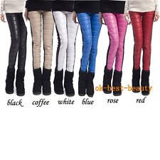 Winter New Style Down-like Feather Thicken Women's Leggings, Warm Slim Bootcut