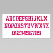 Custom Iron On Heat Transfer, 1 Letter or Number, Glitter Flakes, Various Colors