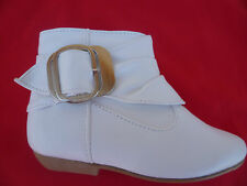 WHITE BOOTS YOUTH KIDS GIRLS SIZE 9-4 TAMMY