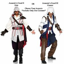 Adult Video Game Assassin's Creed II / III Ezio or Connor Assassin Robes Costume