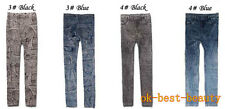 New Fashion Thicken Warm High Elastic Large Size Jean Legging Ninth Pants
