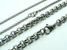 ~Custom Made~STAINLESS STEEL 3mm or 7mm ROLO Link CHAIN NECKLACE 46cm to 122cm