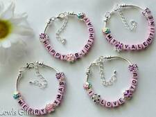 charm bracelet I love you valentine happy birthday girls name charms teenagers