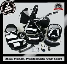 VIP 3in1 BABY PRAM PUSHCHAIR CAR SEAT SELECTION OF COLOURS & WHEELS LOWER PRICE