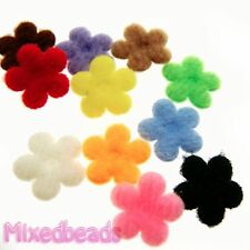 "*U PICK* 100-110 Mini Felt Flower 3/8"" applique padded fabric hair scrapbook"