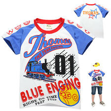 New kids Boys Children Thomas and Friends Summer T-Shirt Top Tee Size 2-7Y