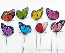 3D Artificial Butterflies Craft with Stick for Festival Party Wedding Decor