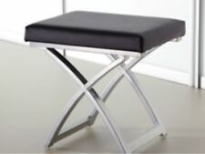 Bedroom Stool Chair Choc, Cream, Black Faux Leather Dressing Table Stool Steel