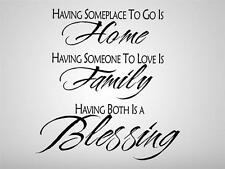 HAVING SOMEPLACE TO GO Quote Decal WALL STICKER Art Home Decor Family SQ1010
