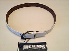 NWT TRUE RELIGION Womens  Hidden Chain Belt, Natural White $133