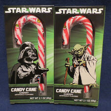 Star Wars Cherry Flavored Candy Cane Featuring Darth Vader or Yoda