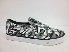 MENS RIP CURL SLIP ON CASUAL CANVAS SHOE IN BLACK/GREY MIX  (VENICE)