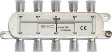 8 way tap. 16dB - 28dB . Class A shielded, For VHF, UHF and Sat distribution.
