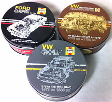 Official Haynes Metal Coasters VW Golf VW Transporter Ford Capri Single or Tin