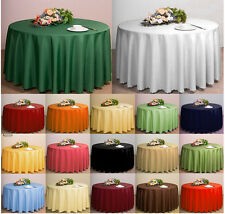 "Plain Circular Round Tablecloth Solid 68"" Inches Clean Wipe Dining Table Cloth"