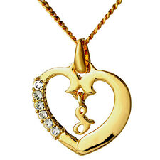 Initial S Heart Name Pendant 18k Gold Plated Christmas Wedding/Love/Anniversary