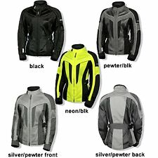 """*Ships Within 24 Hrs* OLYMPIA """"Ladies"""" Airglide 4 Mesh Tech Jacket Motorcycle"""