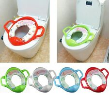 Baby Kids Toddler Potty Trainer Soft Padded Toilet Seat Pedestal Pan Chair Cover