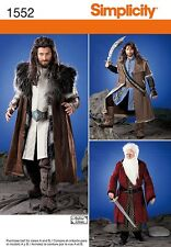 PATTERN SIMPLICITY Men's Lord Of The Rings Costume 1552 Misses XS t XL ComicCon