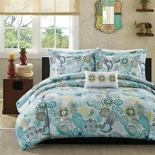 BEAUTIFUL YELLOW BLACK IVORY GREY FLORAL FLOWER CHIC TEXTURE SOFT COMFORTER SET