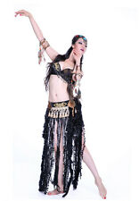 2013 Brand New Tribal Belly Dance Costumes Outfit Set 2Pics Bra & Belt S M L