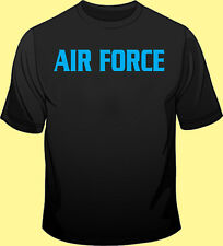 Long / Short Sleeve, Black T Shirt, Military, Air Force, Fitness, Training, PT