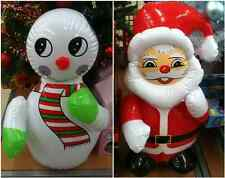 INFLATABLE CHRISTMAS SANTA OR SNOWMAN INDOOR NOVELTY DECORATION 60CM NEW