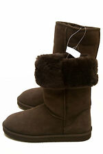 New Womens KIRKLAND SIGNATURE  Tall Shearling Boots Brown