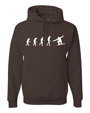 Evolution of Man Snowboarder Hoodie Snow Board Sweatshirt +Free Sticker FREE S&H