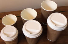 8oz, 12oz, 16oz insulated disposable coffee cups & lids, hot drinks, soup, deli