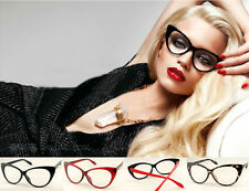 New Classic Cat Eye Glasses Retro Vintage Style Clear Lens Glass Free SP