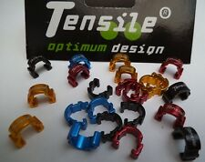 Tensile Alloy hydraulic hose clips,Coloured Red,Blue,Black,Red. NEW bike bling