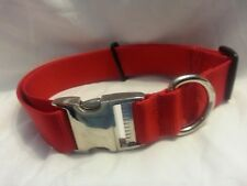 Adjustable 1.5 Webbing Collar Bull Dog Tough USA MADE Metal Side Release Buckle