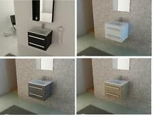 Bathroom Wall Hung Wood Bathroom Sink Basin Vanity Unit   Fully Assembled