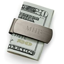 Brushed Gunmetal Money Clip - Option to Personalize