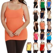 JUNIOR PLUS SIZE - High Quality Stretchable Camisole Spaghetti Strap Tank Top