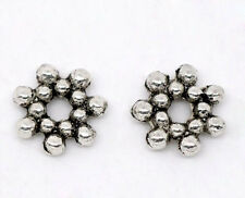 Wholesale Lots Silver Tone Flower Spacer Beads 6.5mm Dia.