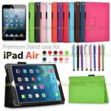 New Folding Folio Leather Flip Case Cover For iPad Air Free Screen Protector+Pen