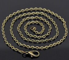 """Wholesale Lots Bronze Tone Lobster Clasp Link Chain Necklaces 20"""" B12922"""