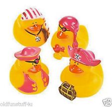 Set of 4 Pirate Girl Rubber Ducks DUCKYS Duckies or Sticker #161207