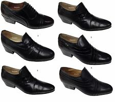 New Mens Italian Leather Shoes Cuban Heel Formal Wedding Dress Party Office