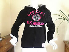 sweat us marshall Femme Fille capuche gilet VESTE SPORT XS au XL survêtement