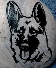 "GERMAN SHEPARD DOG PERSONALIZED ENGRAVED STONE MEMORIAL 6.5""-8"" NAME & Choice 3"