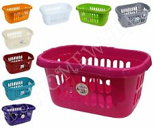 BS HIPSTER PLASTIC LAUNDRY BASKET HAMPER WASHING/LAUNDRY SUPPLIES LINEN BASKET~