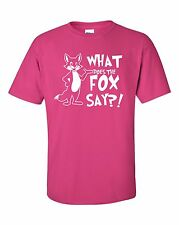 #2 WHAT DOES THE FOX SAY? YLVIS NORWEGIAN DANCE MUSIC YOUTUBE VIDEO T-SHIRT TEE